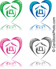 house - this is a 4 image of house in heart