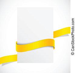 Banner with orange ribbon