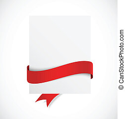 Banner with red ribbon