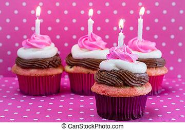 Neapolitan Cupcakes - Happy birthday neapolitan frosted...