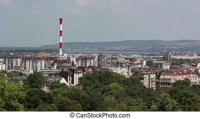 Belgrade, city, chimney - Belgrade, view of the city, the...