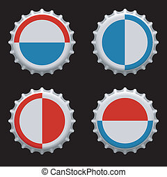Bottle caps vector - Vector illustration of bottle caps