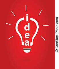 Bright Idea Insight Vector Illustration