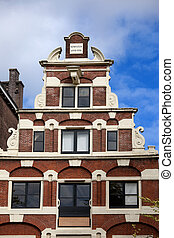 Amsterdam House Step Gable - Dutch Renaissance style step...