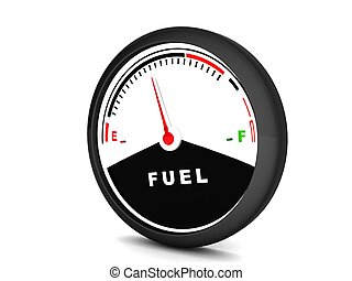 round fuel meter