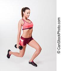 Gorgeous fitness brunette.