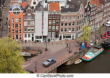 Amsterdam Houses from Above - City of Amsterdam, historic...