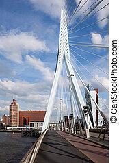 Erasmus Bridge in Rotterdam - Pylon of Erasmus Bridge...