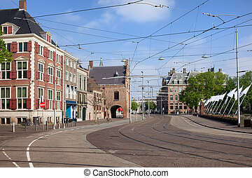 Den Haag City Centre in Netherlands - Buitenhof in the city...