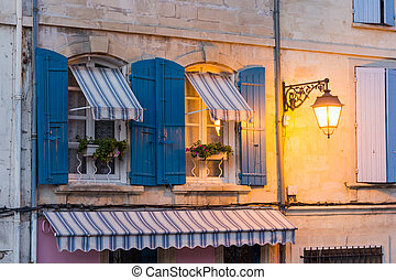 Colours of Provence - Typical summer colours in Arles,...