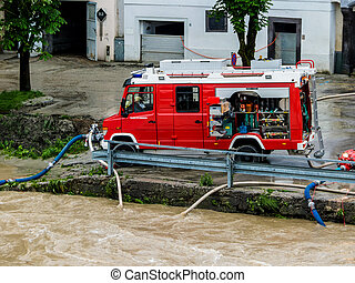 flood in 2013 in steyr, austria floods and floods