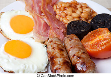 Traditional full english breakfast - Traditional English...