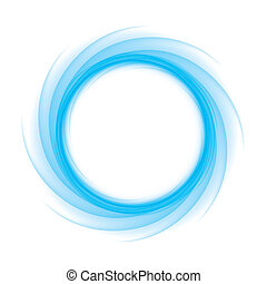 blue wave round - Blue Circle of transition to white as...