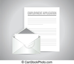 employment application document papers illustration design...