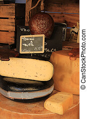 Cheese at a Provencal market - French cheese at a Provencal...