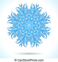 Modern mandala or snowflake design - Ornamental vector...