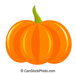 Pumpkin icon isolated on white. Vector illustration
