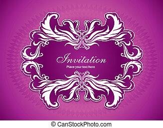 Vintage invitation frame design