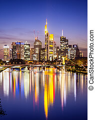 Frankfurt Germany - Skyline of Frankfurt, Germany, the...