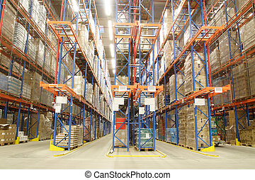 inside of warehouse