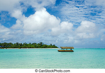 Muri Lagoon in Rarotonga Cook Islands - Boat mooring at Muri...