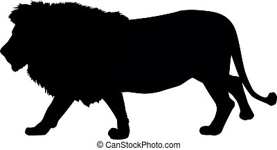 Lion silhouette. Vector illustration. EPS 8
