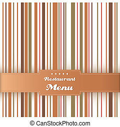 Restaurant menu card design template. Vector.