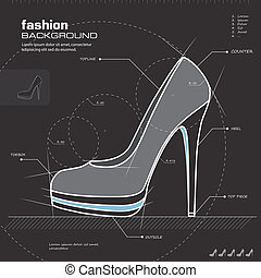 Woman shoes design. Vector. - Shoe design. Woman shoes...