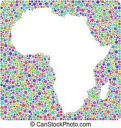 Map of Africa into a square sign - Decorative map of Africa...