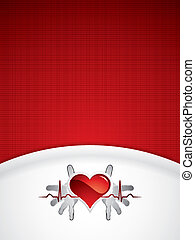 Heart and heartbeat background