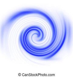 Vortex - Blue spinning computer generated vortex for an...