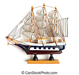 small wooden ship. - Boat model. small wooden ship.