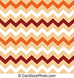 Thanksgiving Orange, White and Brown seamless Chevron...