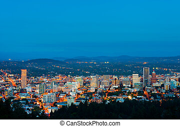 Portland Oregon at night