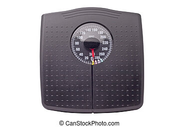 weight scale - black weight scale isolated on white...