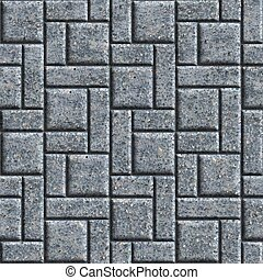 Paving Slabs Seamless Tileable Texture - Gray Pavement -...