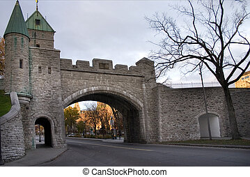 Quebec City Wall - Quebec City - Gate in fortified wall