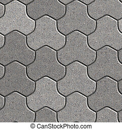 Paving Slabs. Seamless Tileable Texture. - Gray Pavement...