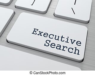 Keyboard with Executive Search Button. - White Button with...