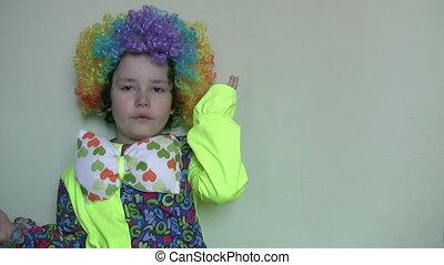 Little clown face