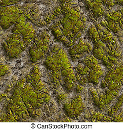 Mossy Stone. Seamless Tileable Texture.