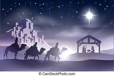 nativity, クリスマス, 現場