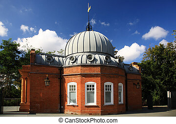 Side view of Altazimuth Pavilion Greenwich London