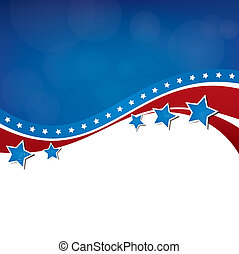 Stars and Stripes - American Themed Background