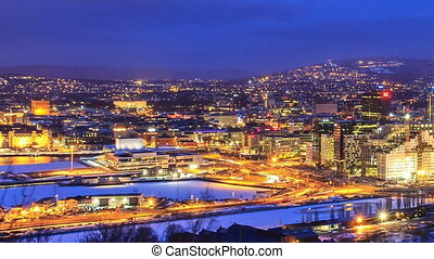 Den Norske Opera and Ballett Dawn over Oslo, Norway Time...
