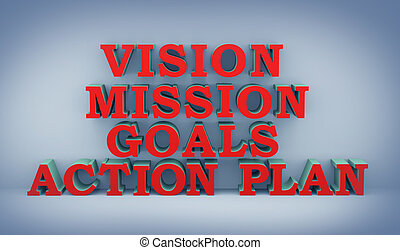 3d concept of action plan
