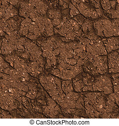 Cracked Brown Soil Seamless Tileable Texture