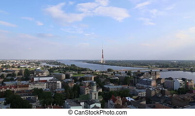 Riga Latvia capital city view from - DSLR Full HD...