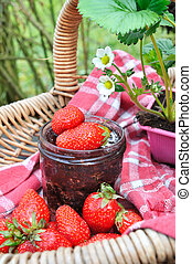 strawberries for jam - good strawberries from the garden for...