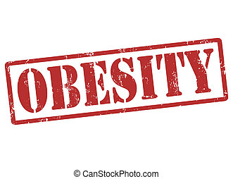 Obesity stamp - Obesity grunge rubber stamp on white, vector...